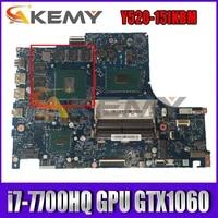 for lenovo legion y520 y520 y520 15ikbm laptop motherboard by520 nm b391 w cpu i7 7700hq gpu gtx1060 rev 1 0 mainboard