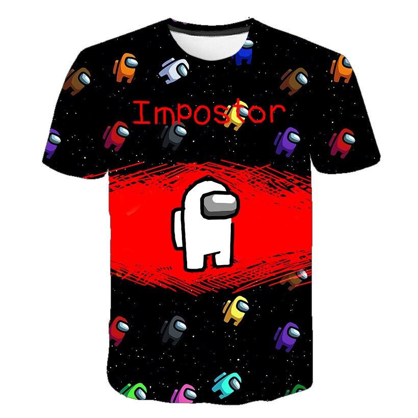 4 Game 5 Among Us boys T Shirt 2021 Funny Summer children Cartoon 7 T-shirt Impostor 8 Graphic Tees Hip Hop kids Tops 10Years
