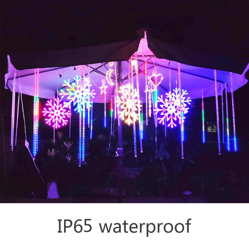 30cm 50cm 8 Tubes Waterproof Meteor Shower Rain LED String Lights Outdoor Christmas Decoration for Home Tree EU/US/UK/AU enlarge