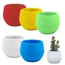 Colorful Flower Pots Planters Mini Plastic Flower Pot Succulent Plant Flowerpot For Home Office Decoration