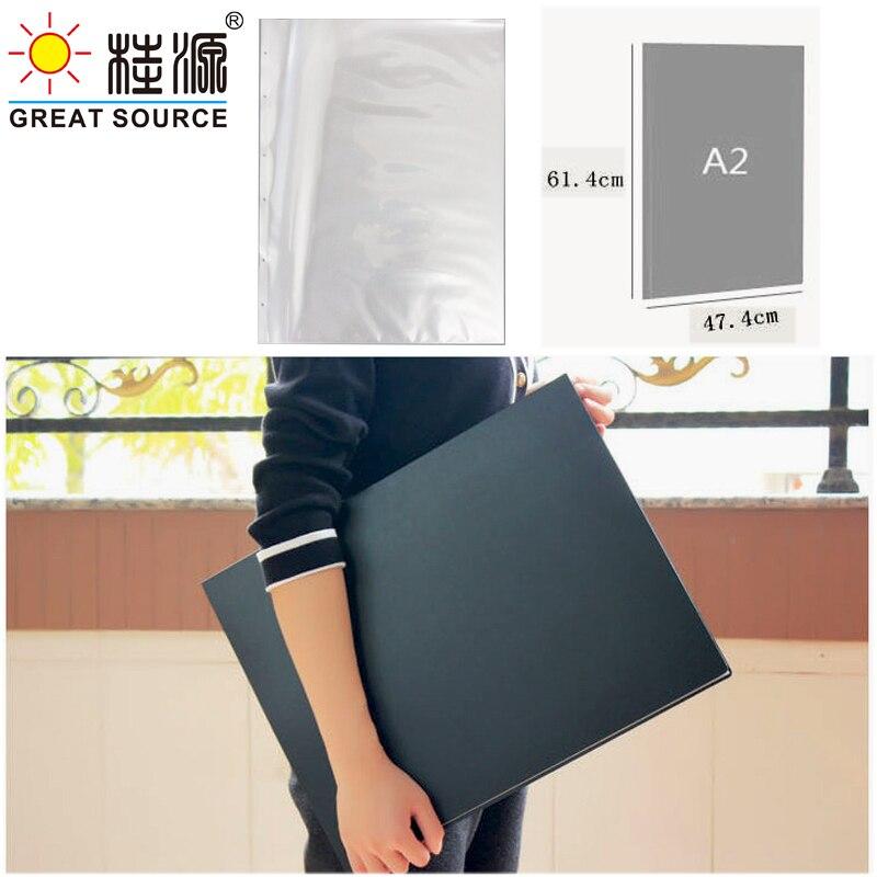A2 Display Book Folder Binder Drawing Picture Presentation Folder Loose Leaf 4K Folder(Without Pocket)47.5*615mm(18.7