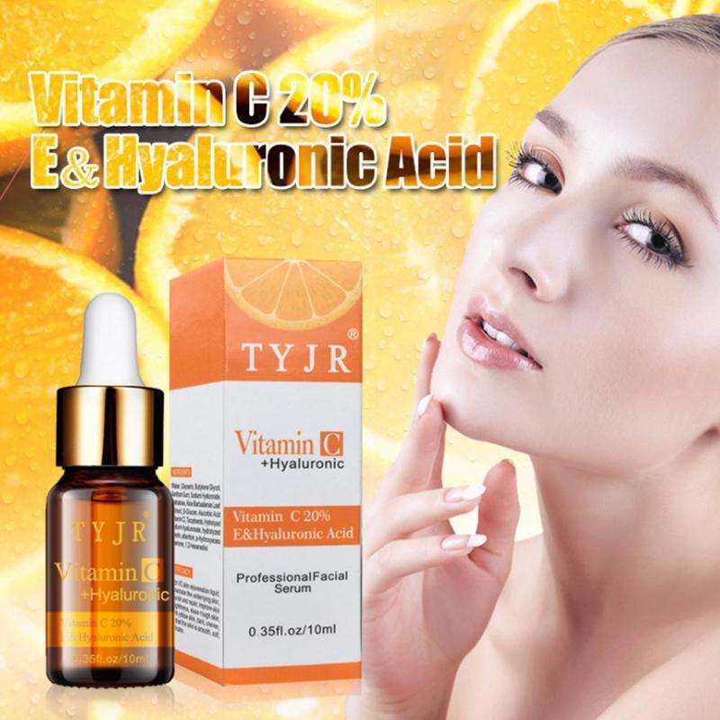 100% Pure Vitamin C Serum Liquid Freckle Removal Acne Scars Hyaluronic Acid Anti-aging Anti-wrinkle Vc Face Serum Fade Dark Spot недорого