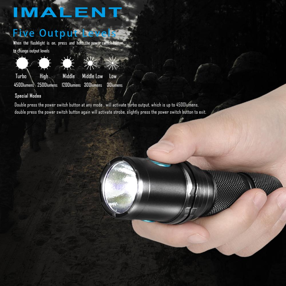 IMALENT DM70 Powerful Rechargeable Flashlight Lantern 4500 Lumens Led Protable Cree XHP70.2 with 21700 Battery Outdoor Lighting enlarge
