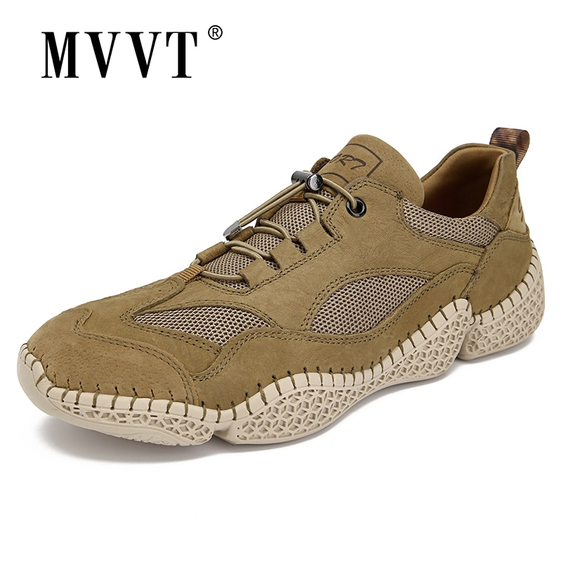 Breathable Fashion Men Sneakers Nubuck Casual Leather Shoes Comfortable Loafers Walking Zapatos