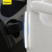 Baseus Car Anti-Collision Strip Car Door Guard 4Pcs Door Edge Trim Guards Anti-Scratch Sticker Car Door Edge Guards Bumper Strip