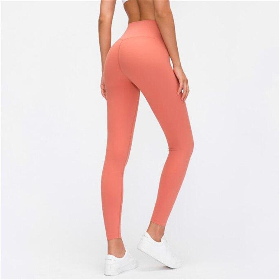 Fitness Pants Soft Naked Feel Sport Yoga Pants High Waist Full Length Stretchy Gym Jogging Fitness Athletic Legging