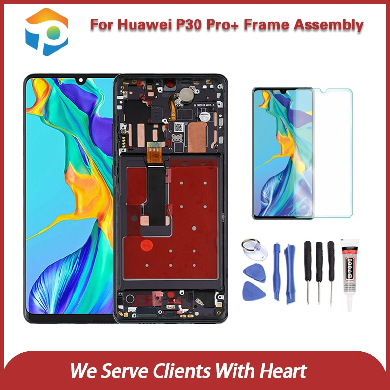 Orig 6.47'' LCD for Hua wei P30 Pro LCD Display Touch Screen Digitizer Assembly Replaceme for Hua wei P30 Pro LCD With Frame