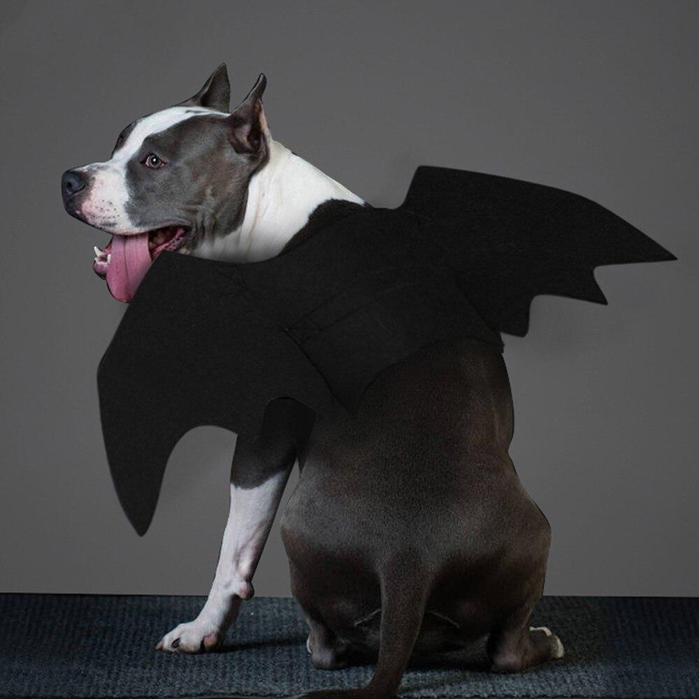 1 Pza Halloween perro Cosplay disfraz accesorio mascota alas de murciélago Wacky Cat Bat disfraz decoraciones para ropa divertida estilo caliente