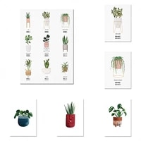 plant care illustration plant lover prints indoor plant graphic art prints valentines day gift posters
