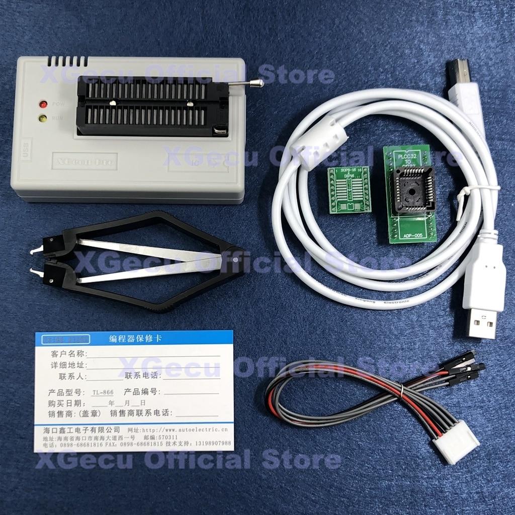 مقبس أسود V11.30 XGecu TL866II زائد مبرمج دعم 17083 + IC SPI فلاش NAND EEPROM MCU استبدال TL866A TL866CS + 2 محولات