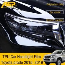 AEP Transparent Blackened TPU Car Headlight protective Film for Toyota land cruiser prado 2015 2016 2017 2018 2019 sticker 150
