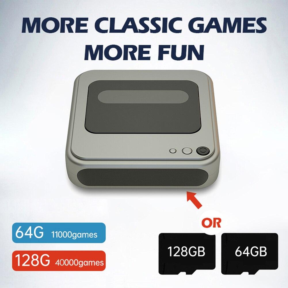 G7 ريترو لعبة فيديو لوحات المفاتيح 4K HD TV لعبة لاعب لاسلكي السلكية وحدات تحكم مع 40000/11000 + ألعاب ل PS1 PSP