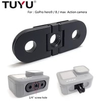 TUYU aluminum metal base adapter with 1 4 screw hole replacement tripod mount for gopro hero 9 hero 8 Max camera accessories