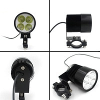 Moto HeadLamp E-bike Electric Bike Car Motorcycle Bulb 4 LED Fit For DC12-80V White 20W 1800LM LED Spot Light Headlight
