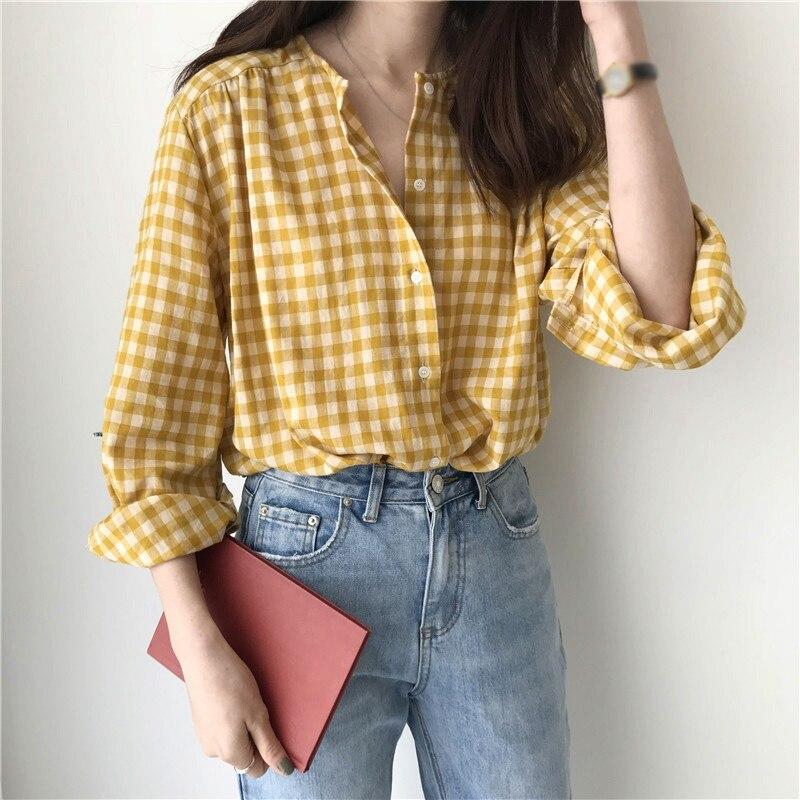 Women Blouses Autumn Long Sleeve Shirt Tops Sweet Ladies O Neck Loose Casual Korean Style Shirt Blusas Hot