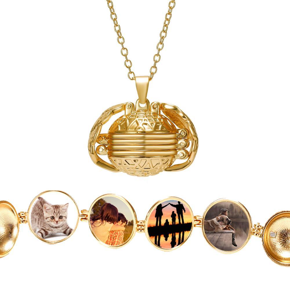 Открывающийся 5 видов цветов шар крылья Ангела многослойная Волшебная фотокоробка DIY кулон ожерелье альбом память медальон модное женское ожерелье