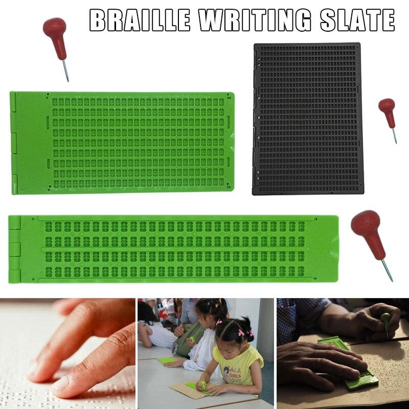 9 líneas 30 celdas/4 líneas 28 celdas/27 línea 30 celdas pizarra para escribir Braille con Stylus JAN88