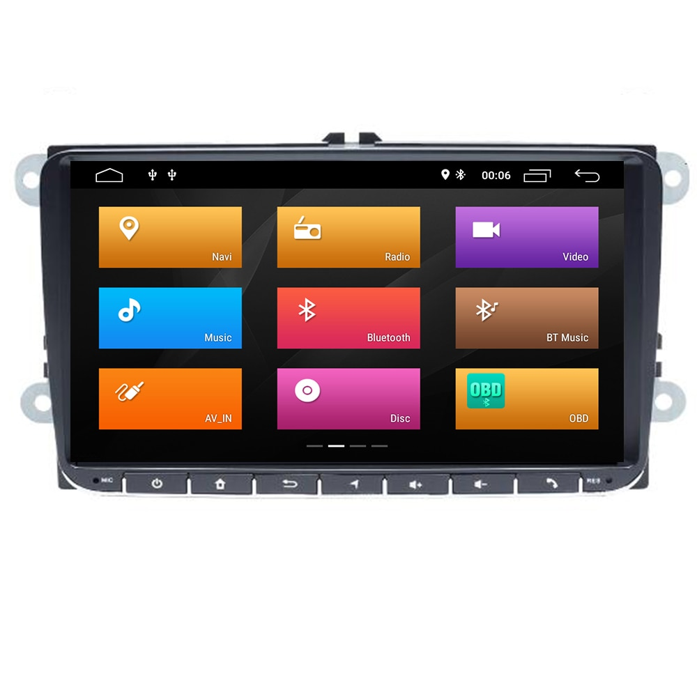 "9 ""2Din Android10 coche DVD radio GPS navegación para VW Passat B6 volkswagen Jeta touran Skoda Octavia 2 golf 5 6 reproductor Multimedia"