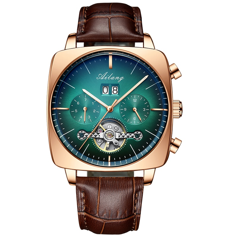 2021AILANG famous brand watch montre automatique luxe chronograph Square Large Dial Watch Hollow Waterproof mens fashion watches enlarge