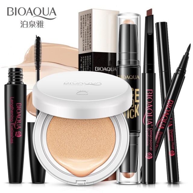 Mulher 5Pcs  Lote BIOAQUA Maquiagem Conjunto Cusion Creme BB E Delineador Rímel