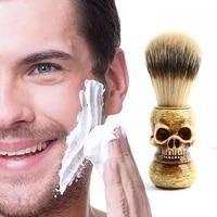 shaving brush retro manual skull handle brush facial cleaning brush professional hair salon tool gifts for menfathers day
