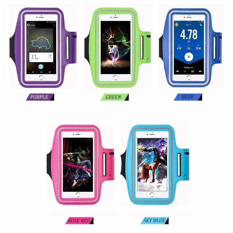 Universal deporte correr pulsera para IPhone X 7 8 6s 6 Plus para Samsung S9 S8 brazo banda cinto bolsa de gimnasio fundas de teléfono 6 pulgadas