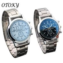 Fashion Neutral Quartz Analog Wristwatch Steel Band Casual Simple Men's Watch Clock Quartz Watch Top