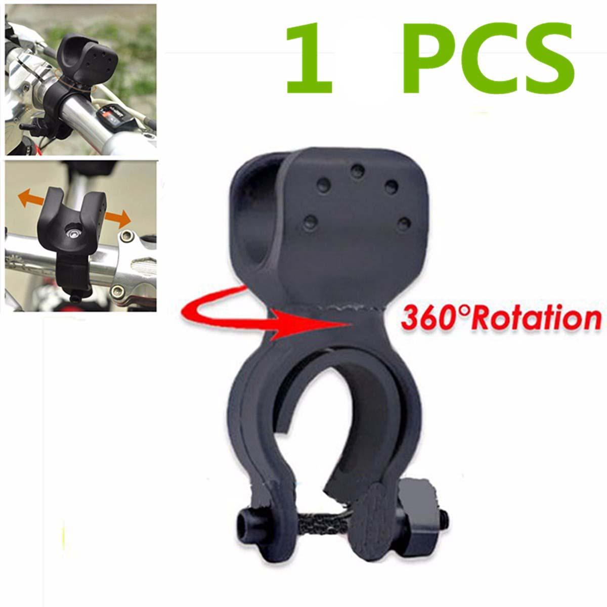 20,5 cm negro bicicleta linterna para bicicleta LED antorcha soporte montaje Clip con correa adhesiva