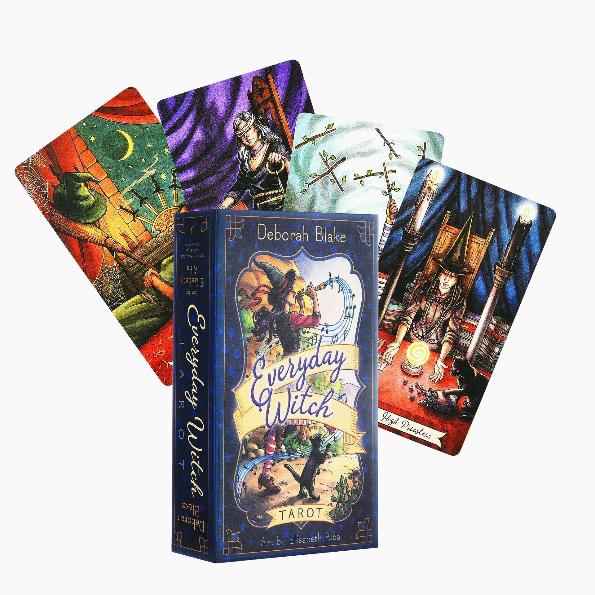 Повседневные карты ведьмы Таро, английский Таро, настольные карты, настольные игры, набор коробок, игра, вечеринка, игральные карты, развлеч...