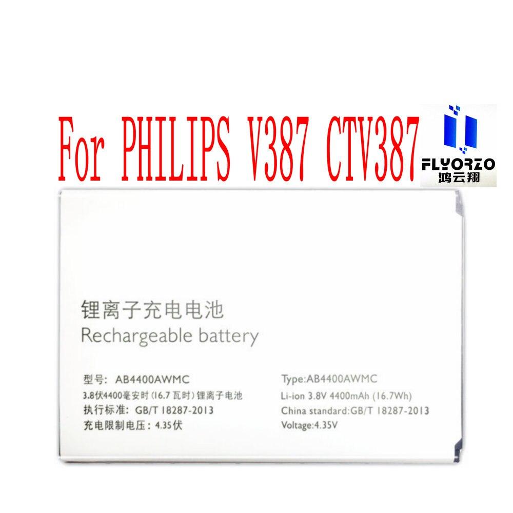 Batería de alta calidad 4400mAh AB4400AWMC para teléfono móvil PHILIPS V387 CTV387