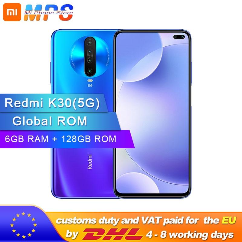 Global ROM Original Xiaomi Redmi K30 5G 6GB 128GB Snapdragon 765G Octa Core Smartphone 6.67