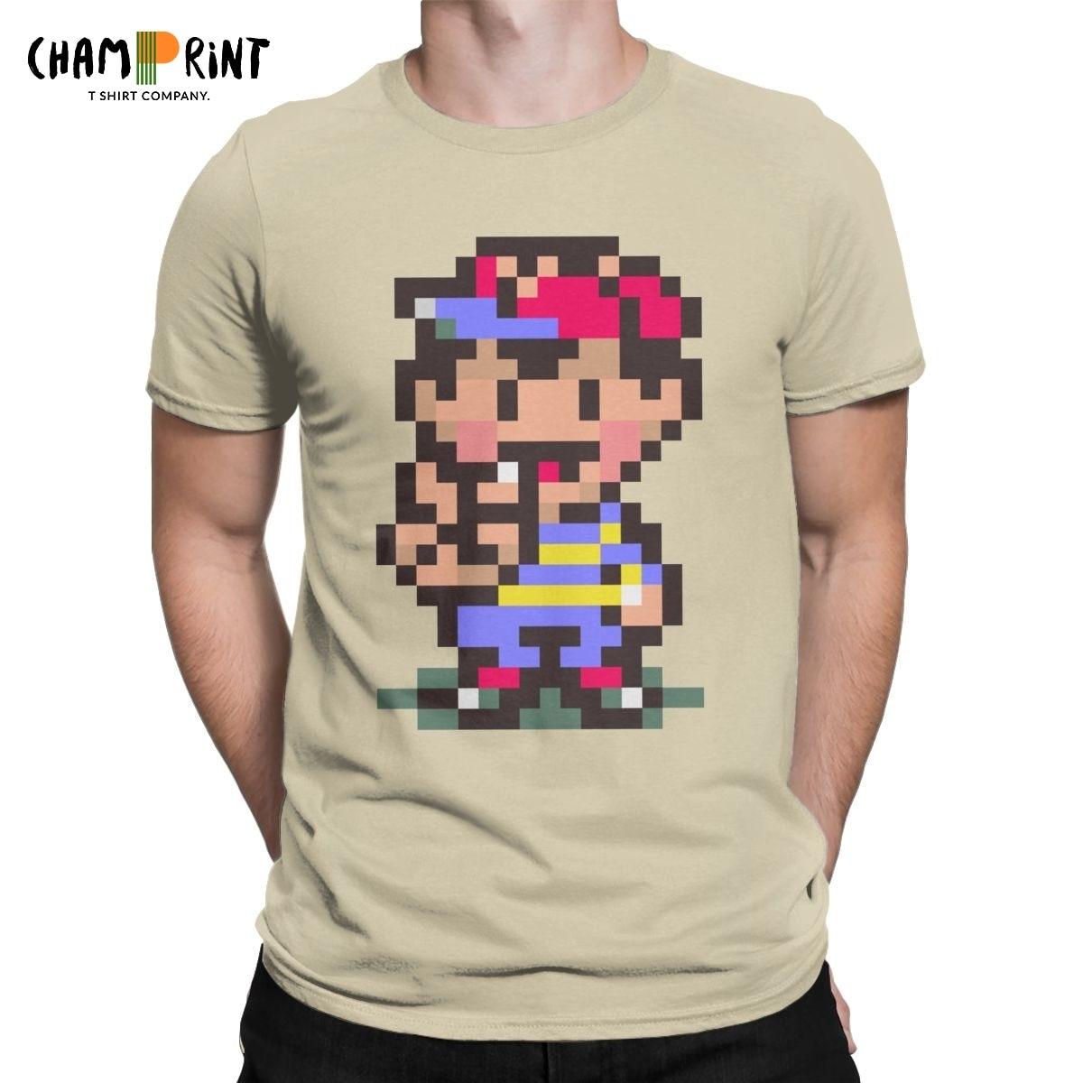 Ness Earthbound Men's T Shirt Mother RPG Novelty Tees Short Sleeve Crewneck T-Shirt 100% Cotton Summer Clothes