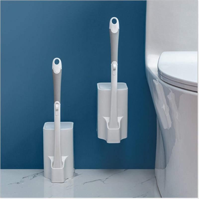 Escova de Toalete sem Ângulo Escova de Toalete Acessórios do Banheiro Morto Limpeza Doméstico Descartável Alça Longa Ferramenta Mais Limpa