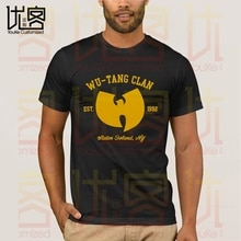 WU TANG CLAN Gegründet 1992 Logo Schwarz T Hemd männer Sommer 100% Baumwolle Team Tees Männlichen Neueste Top Beliebt normalen T Shirts