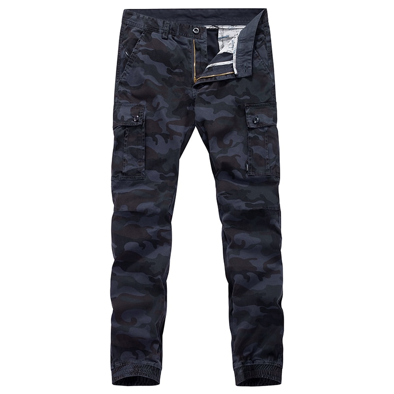 Mens Sportswear New Spring Harajuku Cargo Camouflage Joggers Tactical Pants Multi-pocket Trousers St
