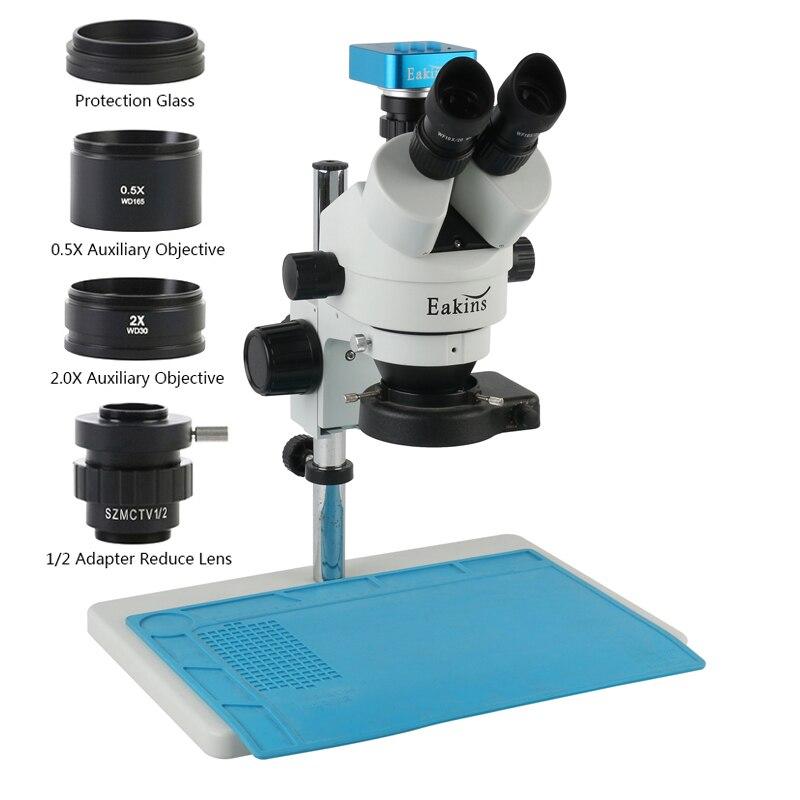 3.5X - 90X سيمول البؤري المستمر التكبير ثلاثي العينيات مجهر ستيريو 36MP HDMI USB 2K كاميرا رقمية + 144 مصباح ليد