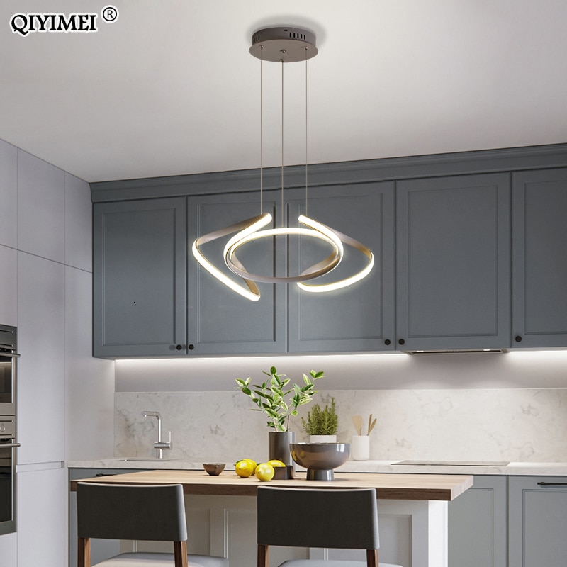 Lámpara Led colgante para sala de estar y dormitorio, iluminación regulable con...