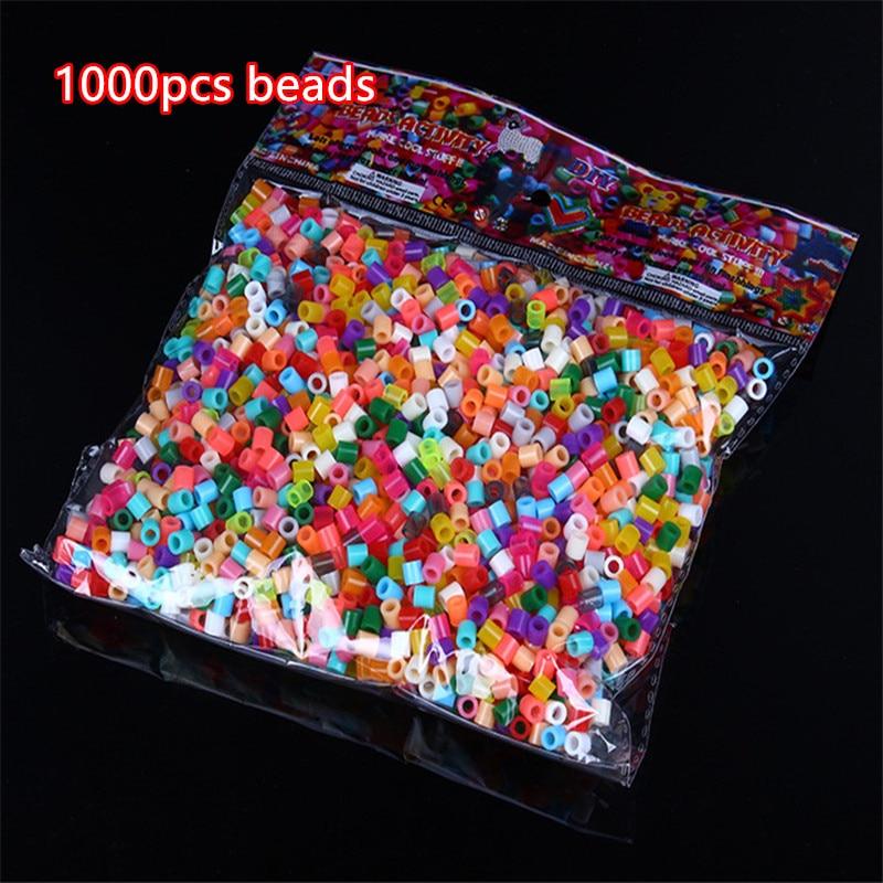 2000pcs 5mm fuse /Hama Beads 3d Puzzle Toys Kids mixcolor random Education kids DIY Toys Christmas gifts