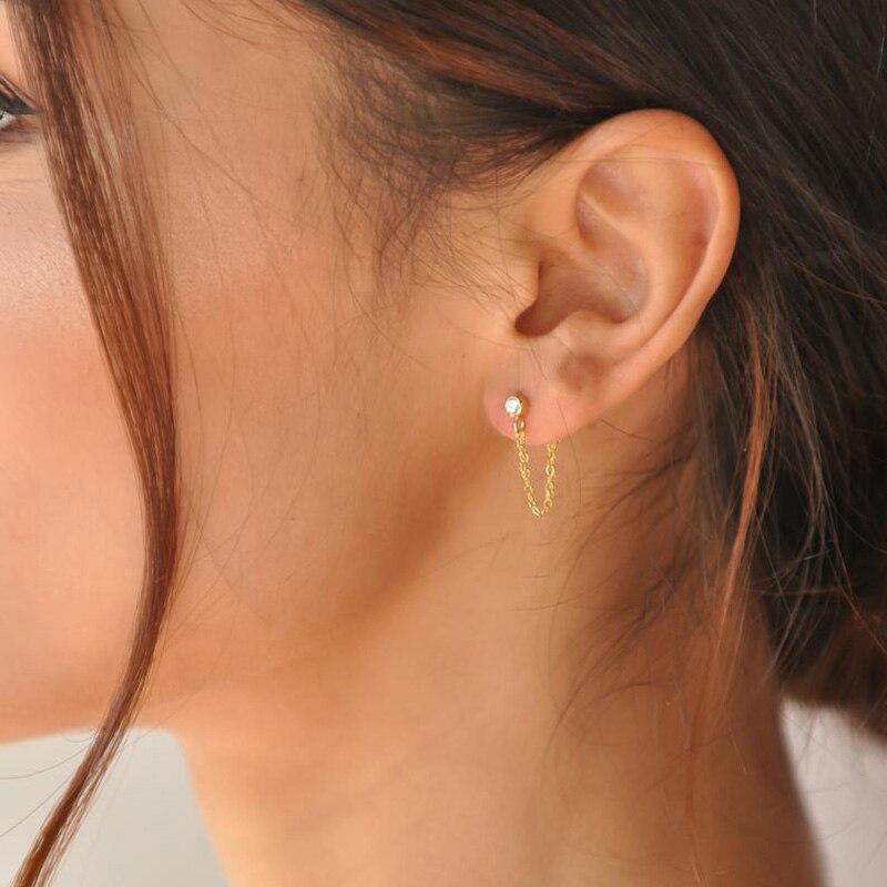 Pendientes colgantes de moda coreana para mujer 316L previene la alergia del acero inoxidable pendiente de la marca de joyería del envío directo