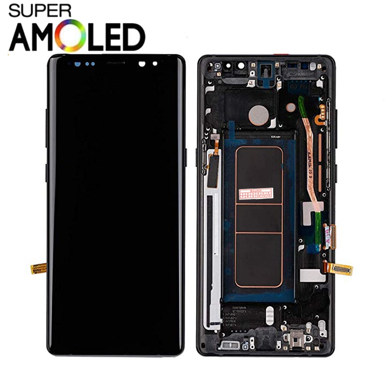 Écran AMOLED Super Compatible avec Samsung Galaxy Note 8 N950A N950F LCD écran tactile numériseur assemblée avec cadre