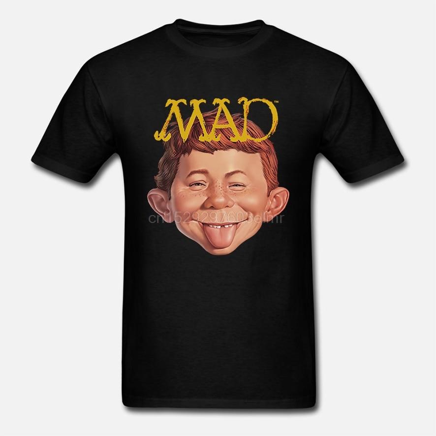 La revista MAD logotipo Alfred E Newman saliendo lengua camiseta para adultos S-3XL(1)