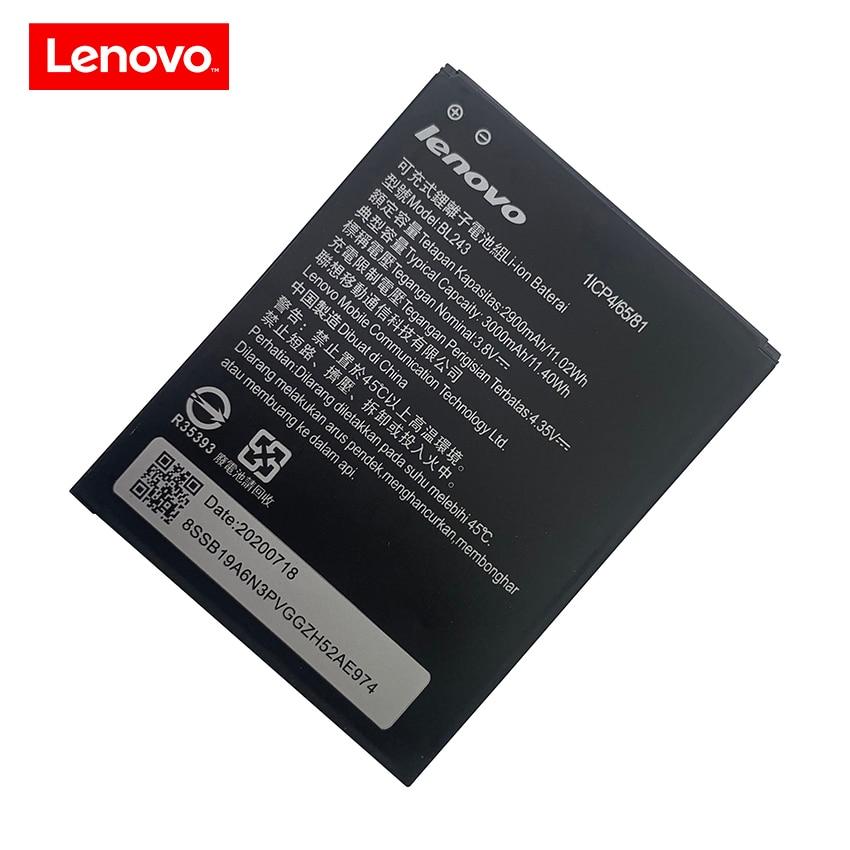 Original 2900mAh BL243 Mobile Phone Battery For Lenovo K3 Note K50-T5 A7000 A5500 A5600 A7600 Replac
