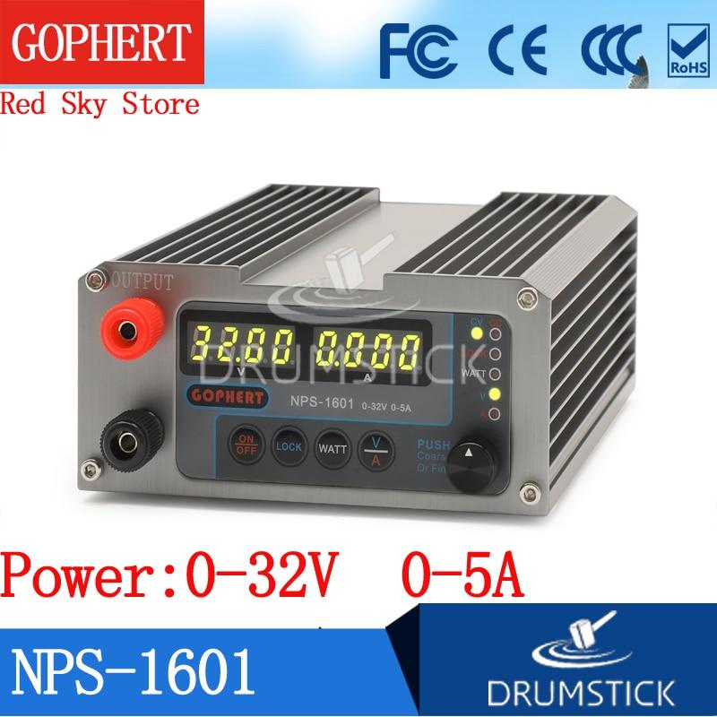 Constante gophert novo NPS-1601 32 v 30 v 5a CPS-3205 3205ii versão atualizada mini ajustável digital dc fonte de alimentação ovp/ocp/otp watt
