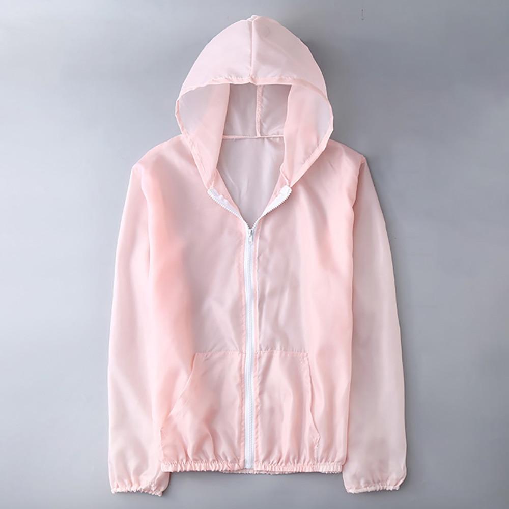 Фото - Women's Casual Sunscreen Hooded Outdoor Sun-Protective UV Jacket Sport Run Coats Summer Jacket Hooded Sunscreen Hooded fuzzy hooded jacket