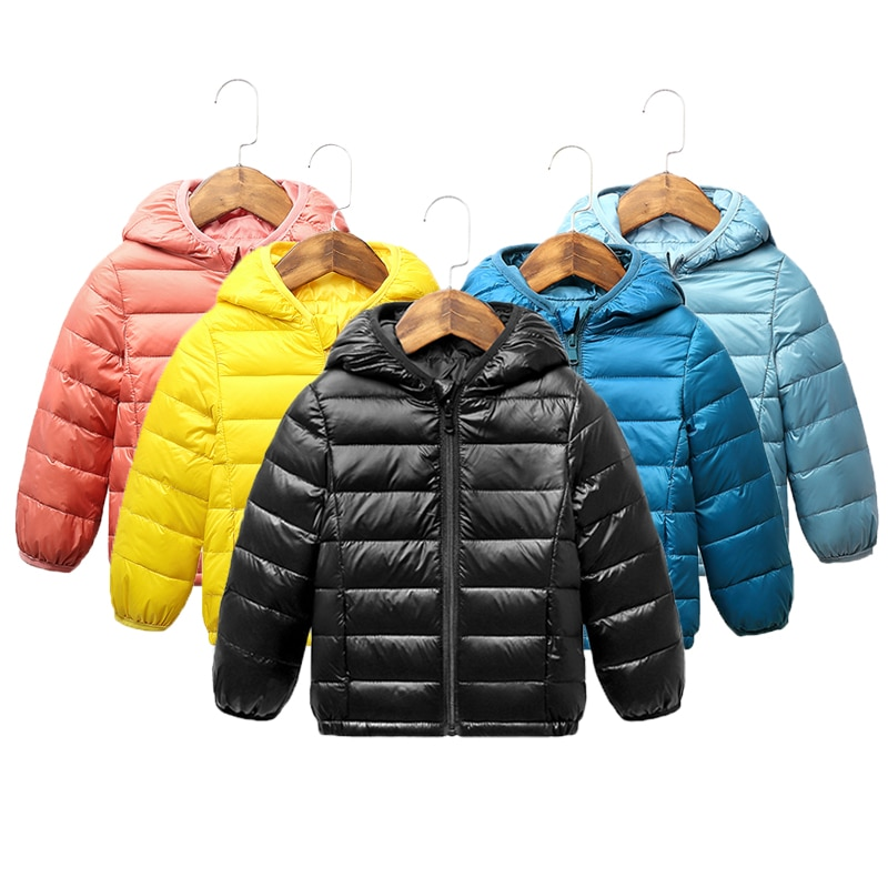 Autumn Winter Kids Down Jackets For Girls Children Warm Down Coats For Boys 2-8 Years Toddler Girls