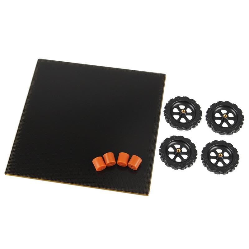 3D طابعة الأسود بناء سطح 220X220mm مع ملصقا شعرية الزجاج 3D طابعة ساخنة السرير ورقة ل Creality CR-20 3D طابعة