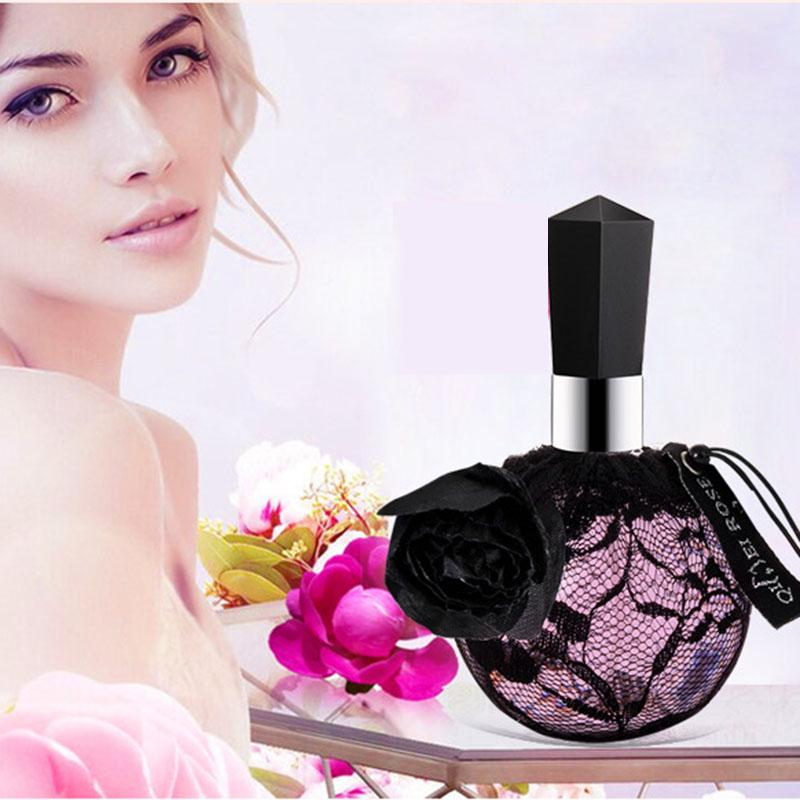 New Beautiful Black Rose Perfume Woman Perfume100ml Lasting Floral Instant Fresh French Flavor alunite crystal  alunite crystal