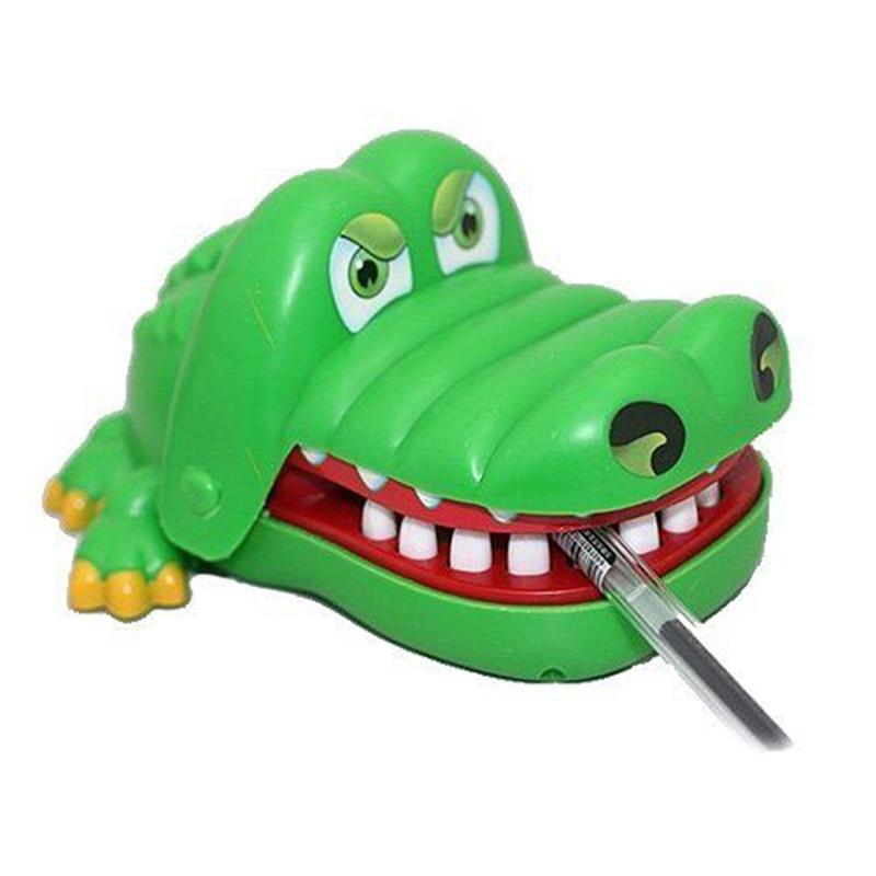 7.5cm*5.5cm mini Popular Creative Chidlren Kid Crocodile Mouth Dentist Bite Finger Game Funny Gags Toy