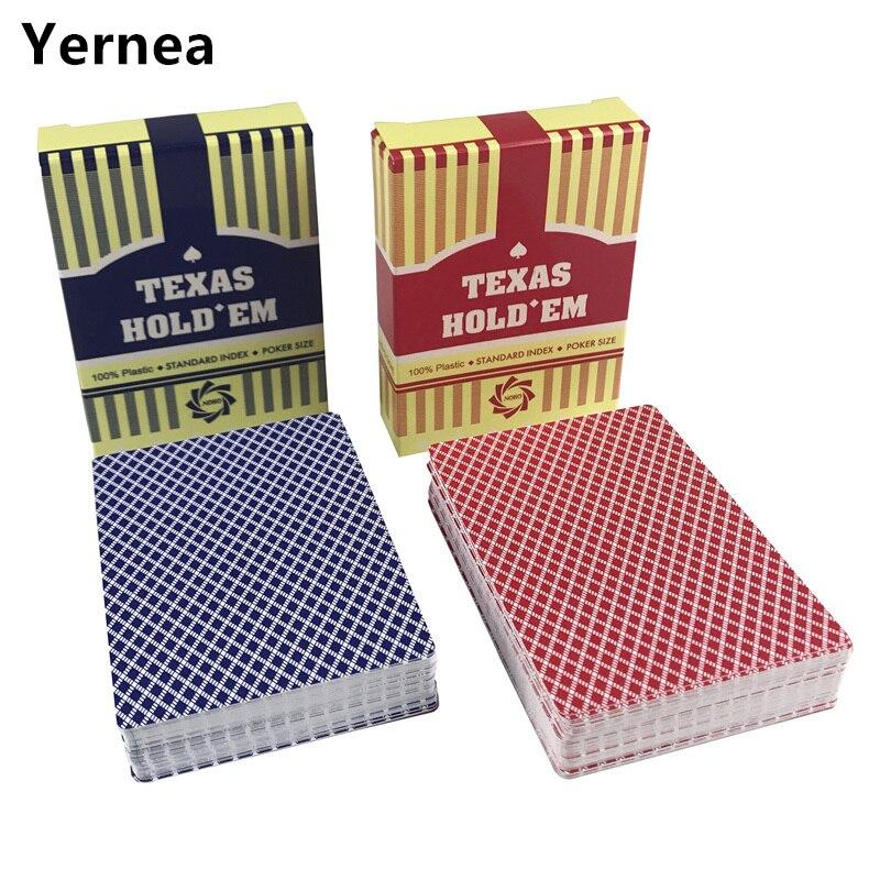 2 компл./лот классический покер карты Texas Водонепроницаемый матовый покер карты Пластик игральные карты покер настольные игры Yernea
