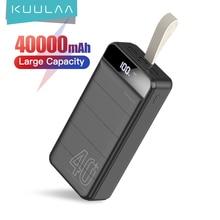 KUULAA Power Bank 40000mAh Portable Charging PowerBank 40000 mAh USB PoverBank External Battery Char